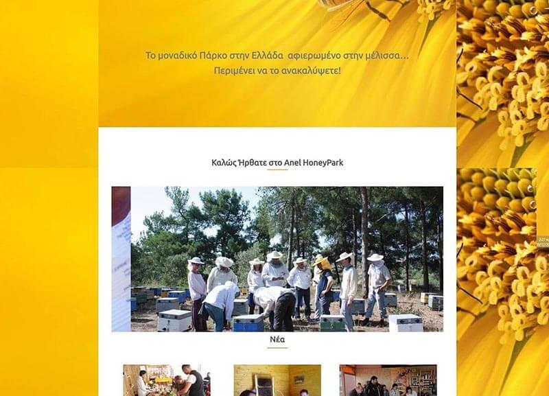 Εταιρική δυναμική ιστοσελίδα για την Anel Honey